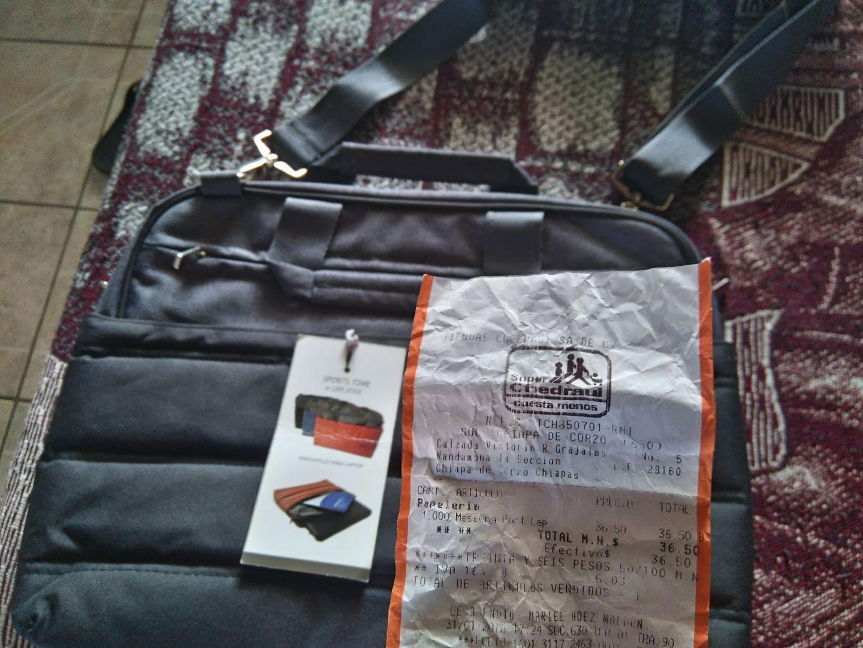 Chedraui: Portafolio para laptop a $36