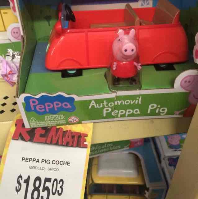 Bodega Aurrerá Hermosillo: Peppa Pig coche $185
