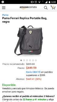 Amazon: Portable bag Puma Ferrari