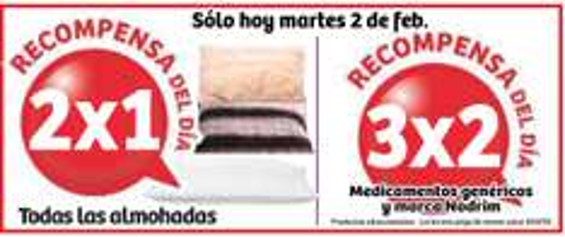 Soriana: 2x1 en almohadas y 3x2 en medicinas genéricas