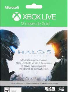 Amazon: Membresía 12 meses Xbox Live Gold Halo 5 + DLC - Special Limited Edition