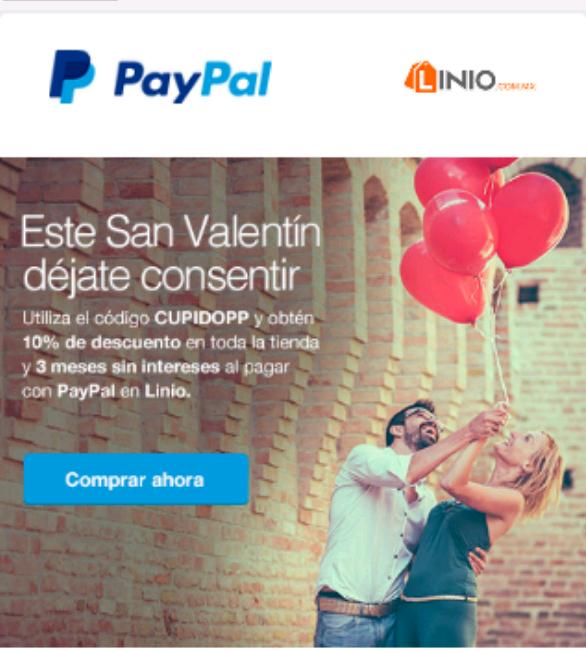 Linio: Cupón 10% y 3 meses sin intereses en toda la tienda con Paypal