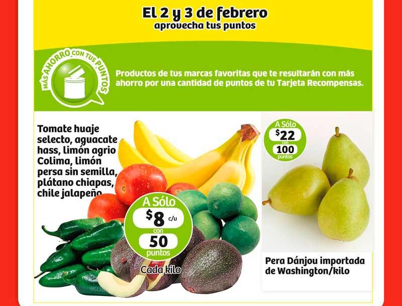 Frutas y Verduras Soriana 2 y 3 de Febrero