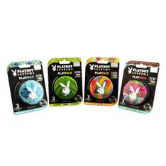 Amazon MX: Play Pack Playboy Condoms Electric-Tribal de 6 Latas con 18 Preservativos a $52.30