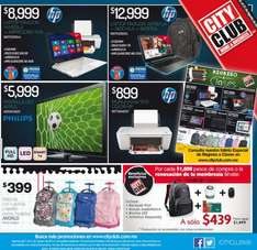 Folleto de ofertas en City Club Agosto 2014 (incluye 2x1 en tarjetas Skype)
