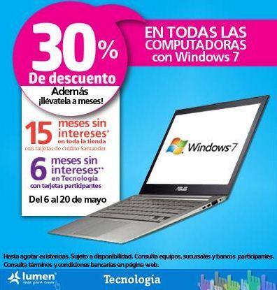 Lumen: 30% de descuento en computadoras con Windows 7