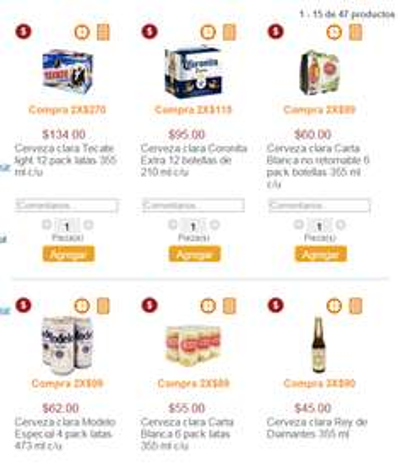 Superama: Cervezas en oferta