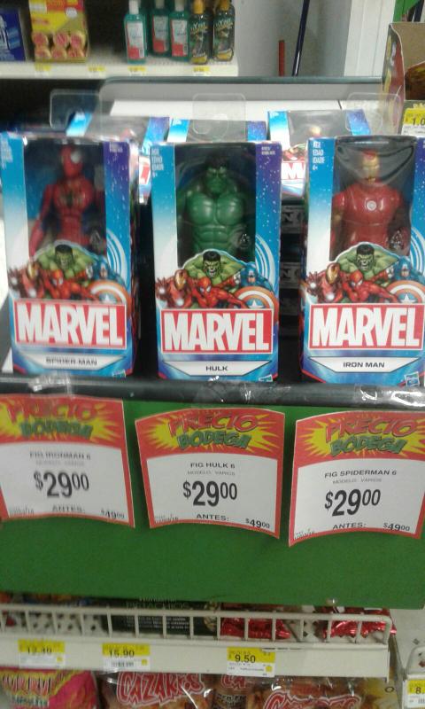Bodega Aurrerá Aguascalientes: figura avengers Hasbro a $29