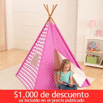 Costco Online: 1000 pesos de descuento Kidkraft, Cabaña color rosa