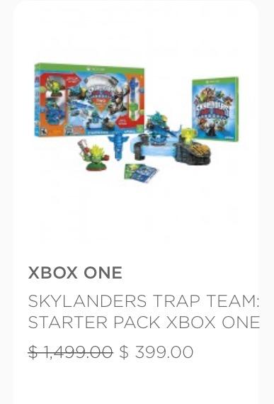 Palacio de Hierro Online: Skylanders Trap Team para Xbox One a $399