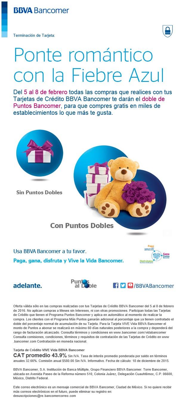 Bancomer: puntos dobles del 5 al 8 de febrero