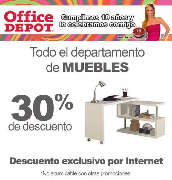 Office Depot: 30% de descuento en el departamento de muebles