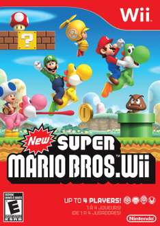 Amazon MX: New Super Mario Bros - Wii - $452.84 con cupón