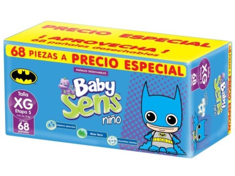 Chedraui Lakin Cancún: pañalede 68 piezas Baby Sens niño y niña en $28.75
