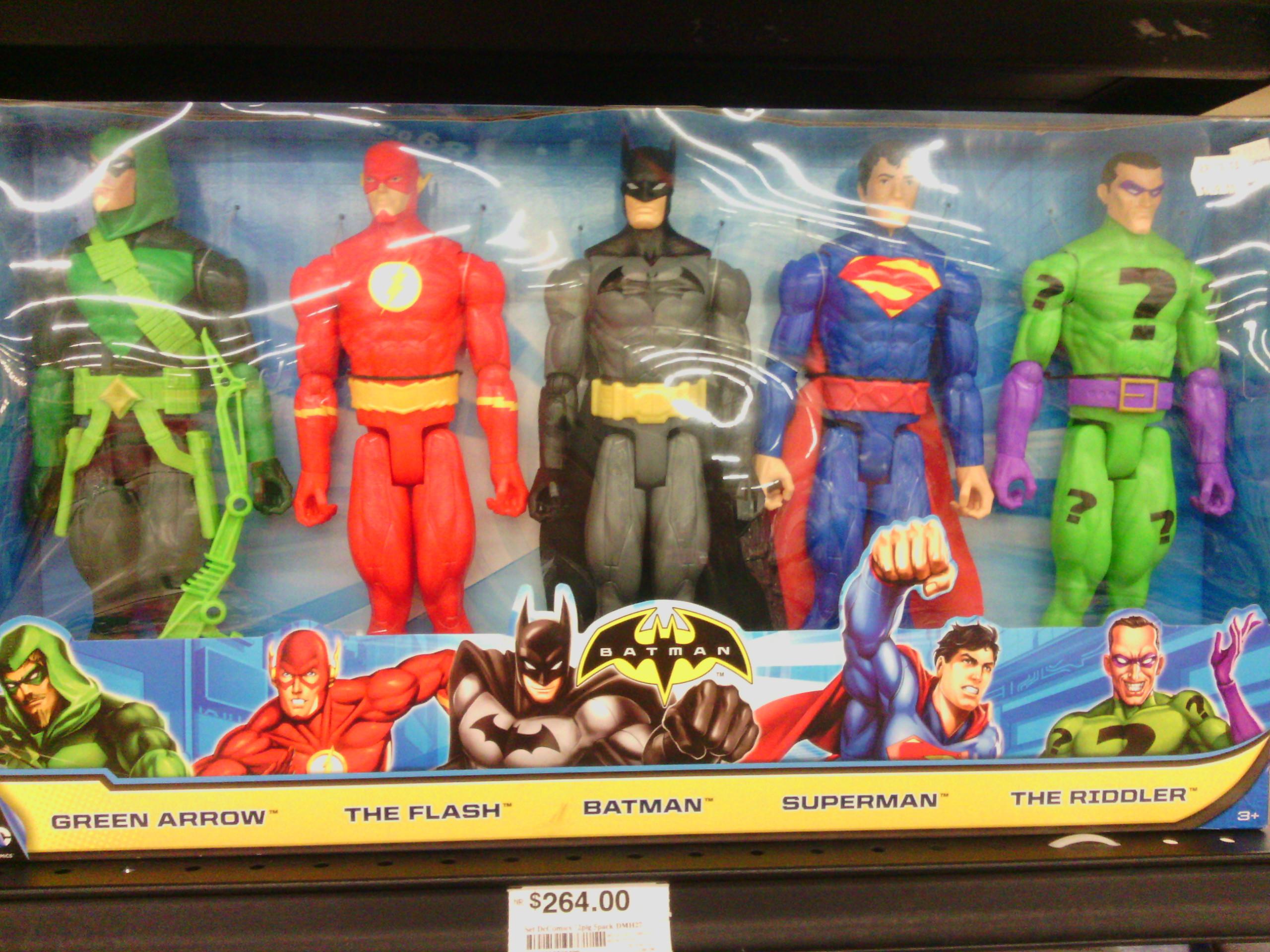 Chedraui Coapa: set de 5 figuras superhéroes DC rebajados a $269