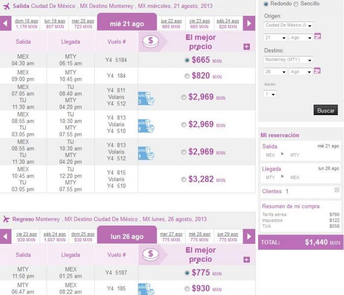 Volaris: vuelos nacionales del DF en verano desde $999