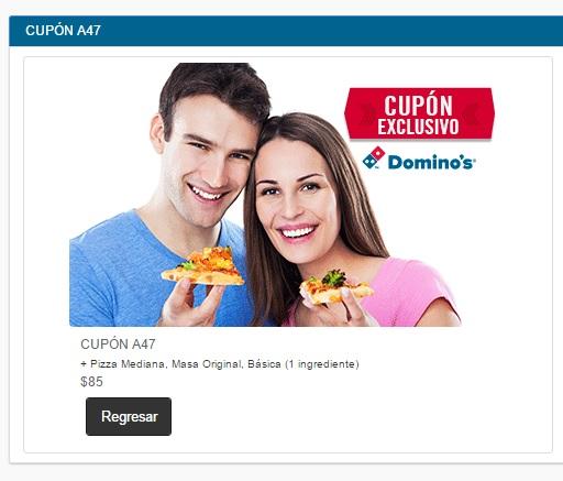 Domino's Pizza: Códigos para pizzas desde $85