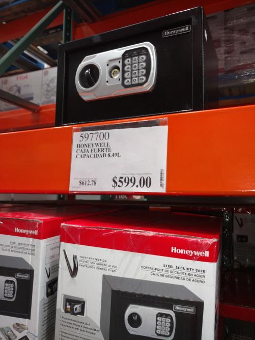 Costco: Caja de Seguridad Honeywell 8.49L a $1,100