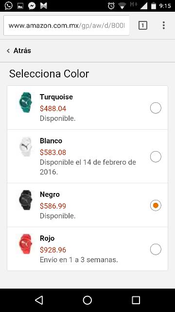 Amazon MX: Reloj Puma Big Cat Negro modelo PU103682003 a $587