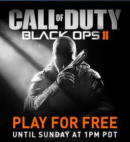 Call of Duty Black Ops 2 gratis para jugar el fin de semana en PC