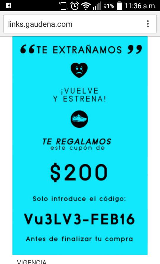 Gaudena: cupón de $200 para compras minimas de $450