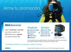 Bancomer: Action Camera HD al contratar un producto + Servicio