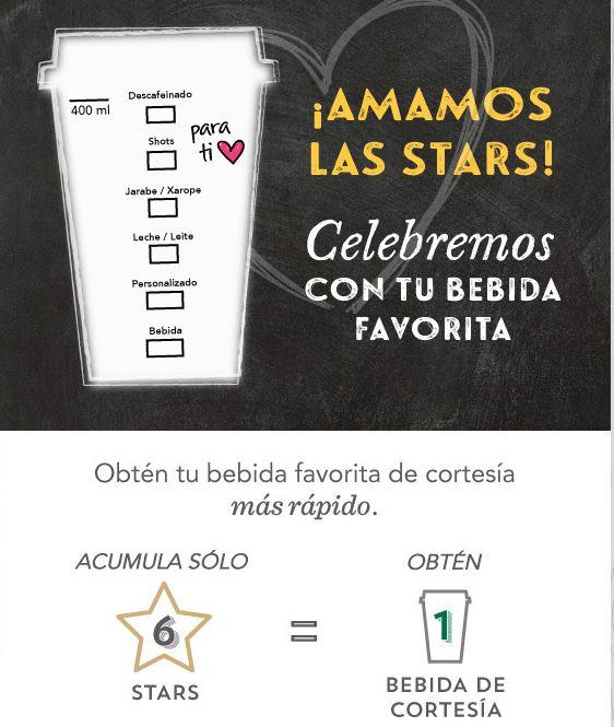 Starbucks: bebida de cortesía con sólo 6 stars (regular 15)