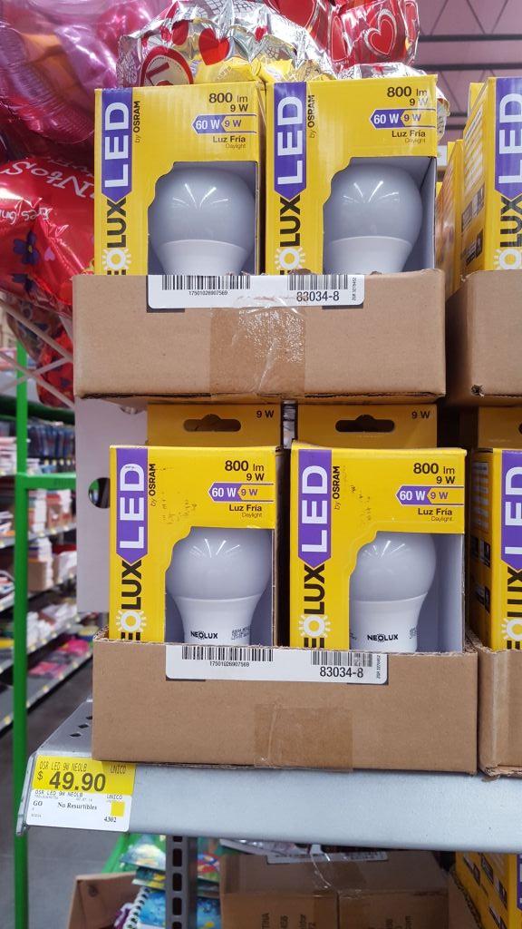 Bodega Aurrerá: Bombillas LED de 9w a $50