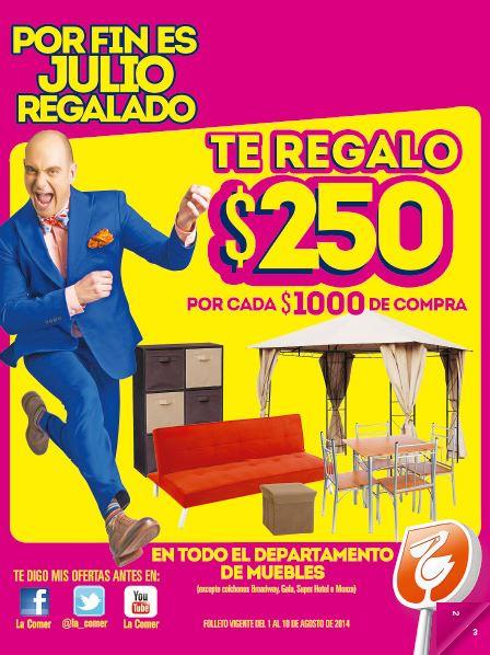Folleto de ofertas de Julio Regalado en Comercial Mexicana del 1 al 10 de agosto