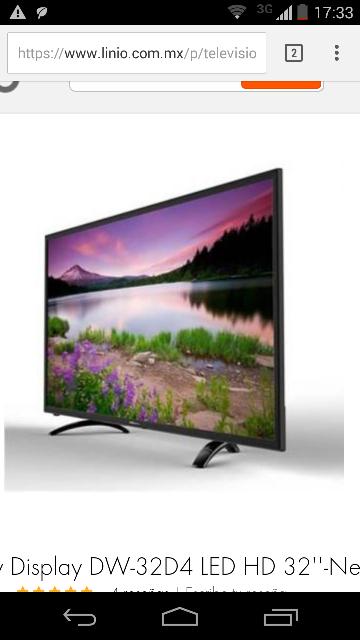 """Linio: Pantalla LED marca DW 32"""" HD modelo DW-32D4 a $2,999"""