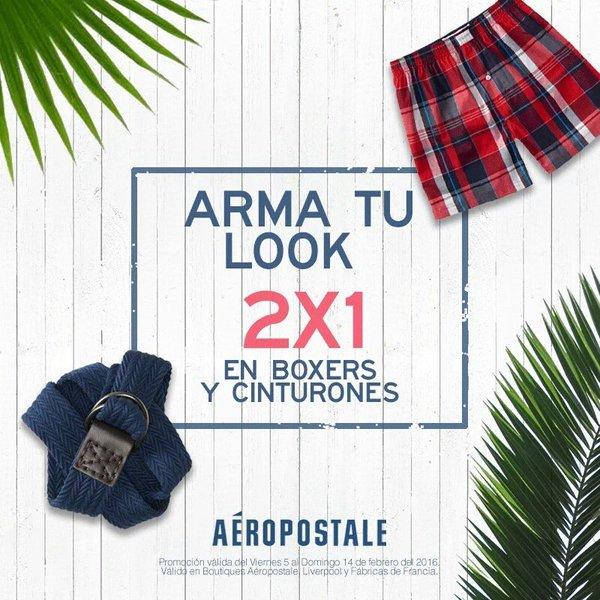 Aéropostale: 2x1 en boxers y cinturones