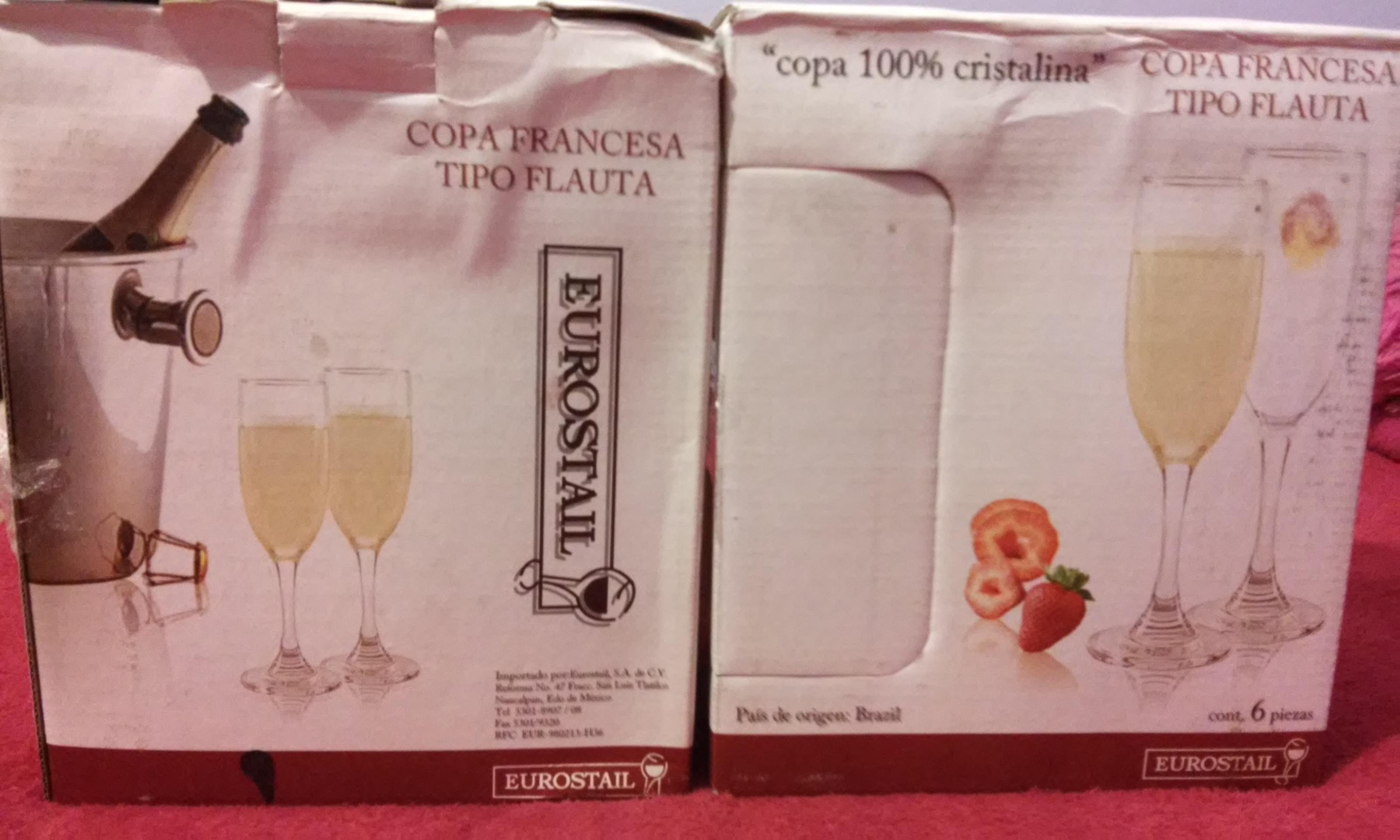 Walmart Cuitlahuac: set de copas francesas tipo flauta 6pz a $29.90