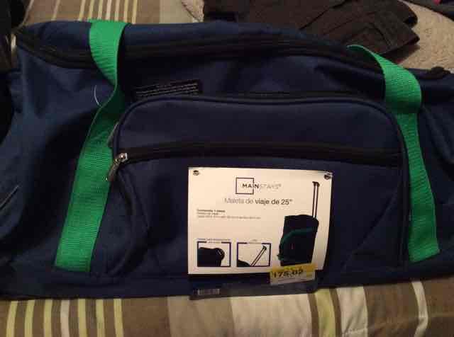 """Walmart: maleta de viaje de 25"""" a $175.02"""