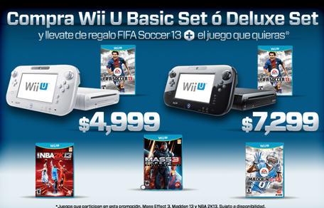 Gamers: Wii U Básico con dos juegos a $4,999