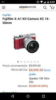 Amazon MX: Cámara Fuji X-A1 Kit XC 16-50mm a $4,999