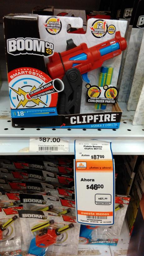 Chedraui: Pistola boom co Clipfire a $46