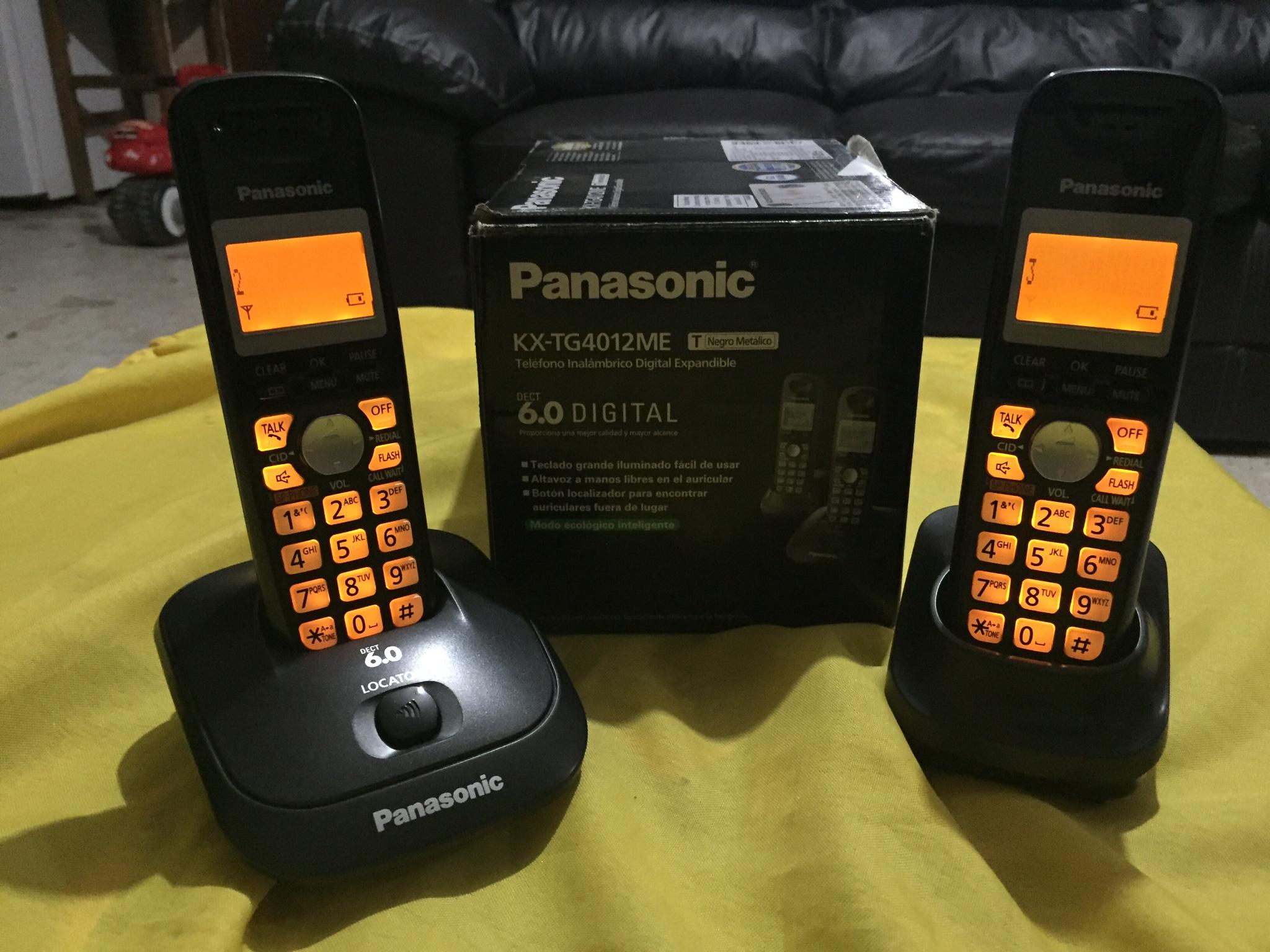 Elektra Remates Toluca: Par de teléfonos Panasonic 6.0 a $300