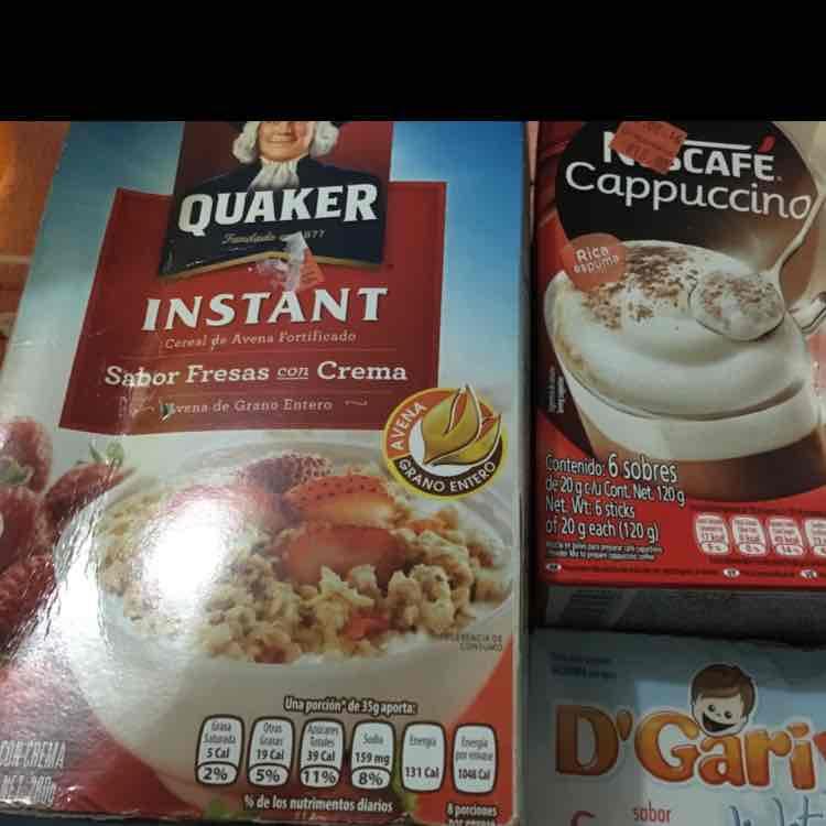 Chedraui: Avena Quaker $5, Nescafe capuchino $18, Gelatina gary $4