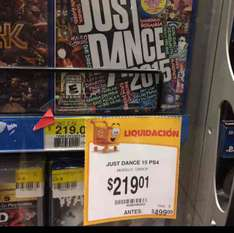 Walmart Puebla Reforma: Just Dance 2015 PS4 a $219.01