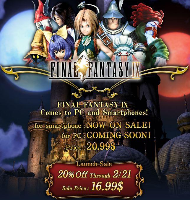 Final Fantasy IX para Android e iOS con 20% de descuento