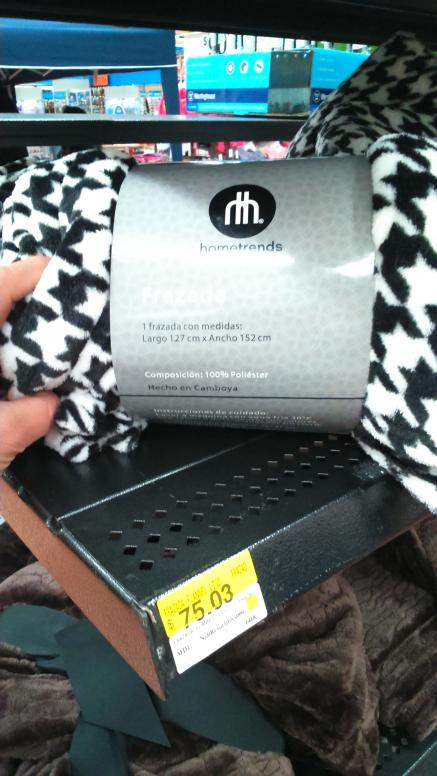 Walmart Atizapán: Frazada Hometrends a $75.03
