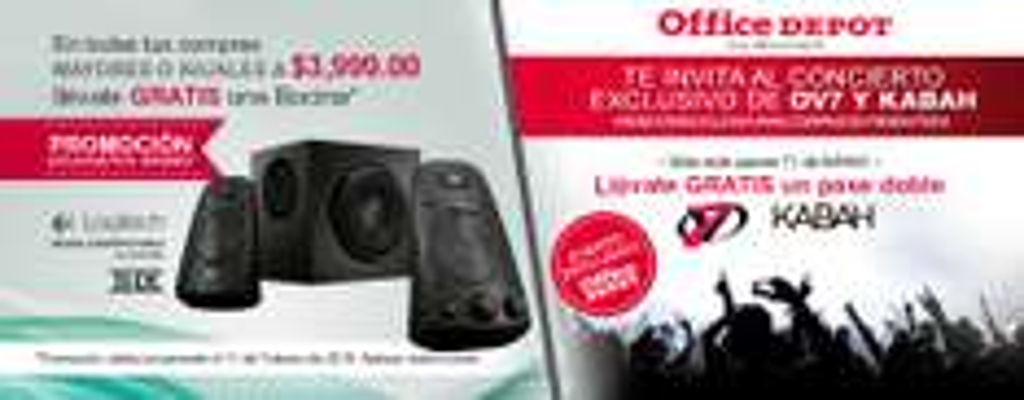 Office Depot en línea: en compras mayores a $3,999 gratis Bocinas Logitech Z623