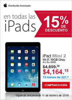 Office Depot en linea : iPad Mini 2 Retina a $4,164