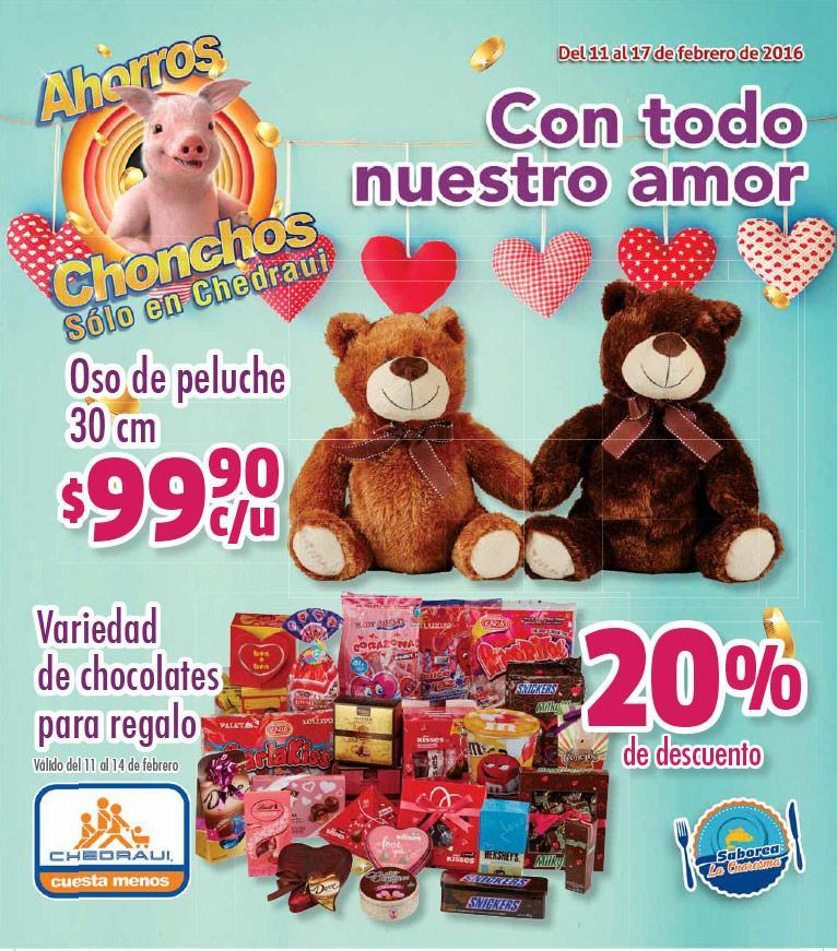 Folleto de ofertas de Chedraui del 11 al 17 de febrero y especial de San Valentín