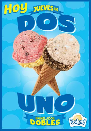 Dolphy: 2x1 en helados dobles todos los jueves