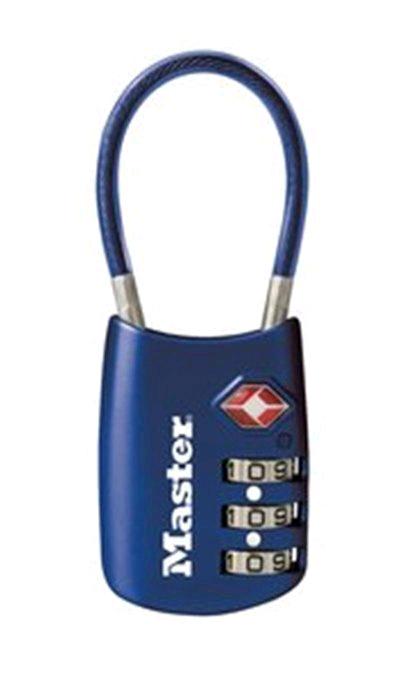Amazon: Master Lock Candado para Equipaje con Cable Flexible, Aceptado por TSA Azul 1-paquete