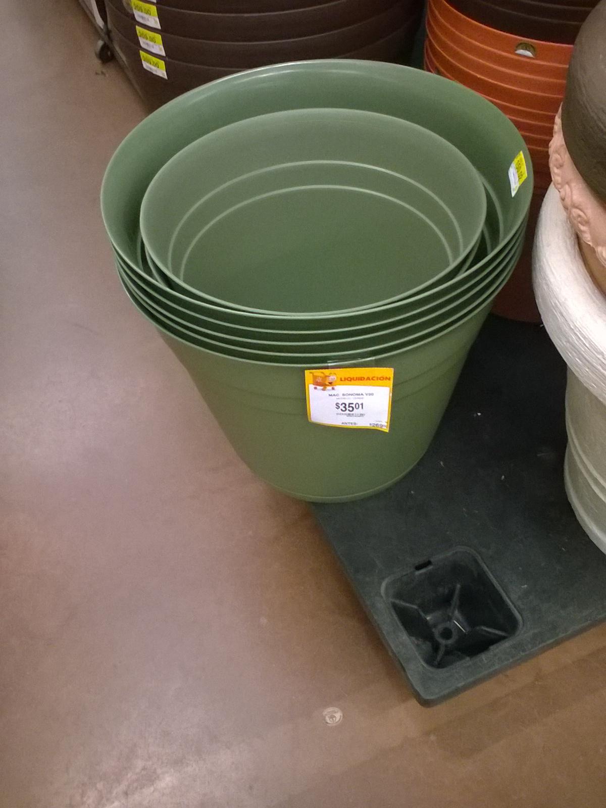 Walmart carrizal Vhsa: Maceta Jumbo a $35.01 y mas