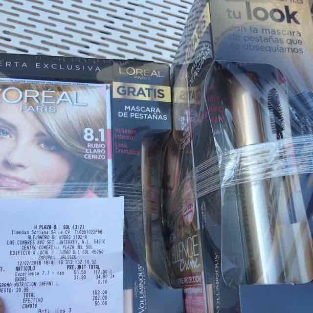 Soriana: tinte L'oreal Imédia con rímel Voluminous a $58.50