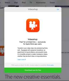 Apple Store: Videoshop gratis (normal $35)