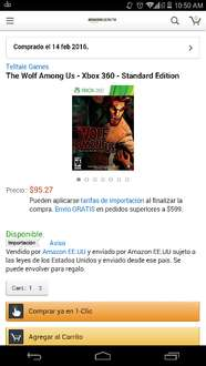 Amazon MX: The Wolf Among Us para xbox 360 a $95